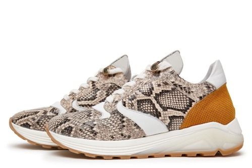 Swami Tide | Slangenprint sneakers